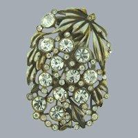 Vintage Dress Clip with crystal rhinestones