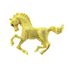 Vintage figural gold tone horse Scatter Pin