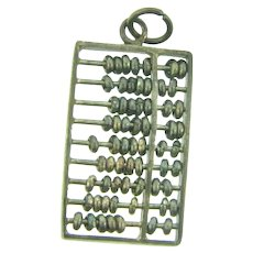Marked sterling abacus Charm with moveable beads