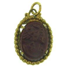 Vintage stone Cameo Pendant