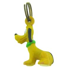 Vintage early rubber figural Pluto dog Charm