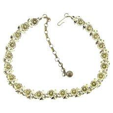 Signed Lisner choker floral link Necklace