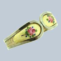 Vintage guilloche clamper Bracelet