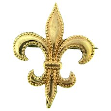 Vintage Fleur de Lis gold tone Watch Pin