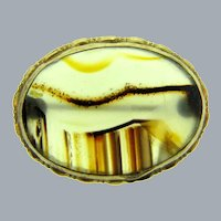 Vintage smaller banded agate Brooch