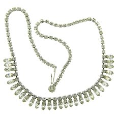 Vintage choker Necklace with all crystal rhinestones