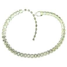 Signed Eisenberg choker Necklace with crystal rhinestones
