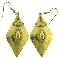 Vintage gold tone drop wire Earrings for pierced ears