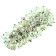 Vintage crystal AB bead expansion cha cha Bracelet