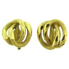 Signed Monet vintage clip back Earrings