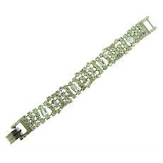 Vintage 4 row mid century crystal rhinestone link Bracelet