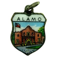 Made in Germany small enamel silver tone Alamo Charm