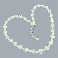 Vintage crystal AB bead choker length Necklace