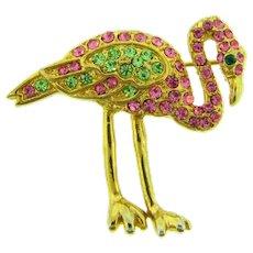Vintage figural flamingo dancer Scatter Pin with rhinestones