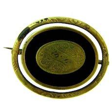 Antique revolving mourning Locket Brooch