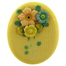 Vintage small celluloid floral Scatter Pin
