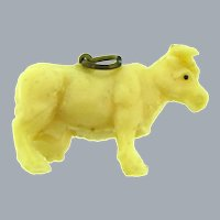 Vintage celluloid cow Charm