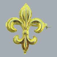 Vintage Fleur de Lis gold tone Watch Pin