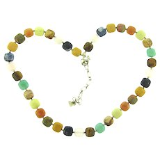 Marked 925 colorful polished stone Necklace