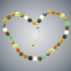 Marked 925 colorful polished stone Necklace
