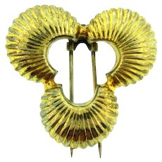 Marked Sterling vermeil Art Deco Fur Clip