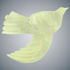 Vintage Mother of Pearl figural carved dove Brooch