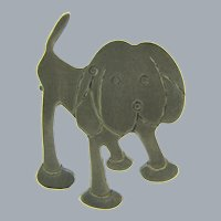 Marked Sterling silver figural cartoon dog Brooch