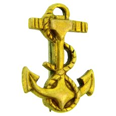 Marked 1/20 10KT gold filled tiny anchor Scatter/ Lapel Pin