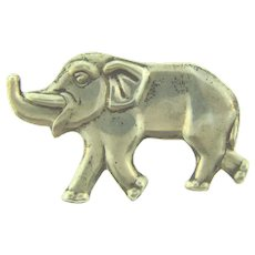 Signed Sterling by Coro vintage figural elephant Brooch