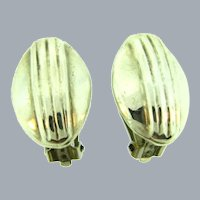 Marked 925 Mexico sterling silver clip-on Earrings
