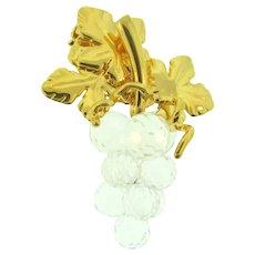 Signed Swarovski figural grape cluster Brooch