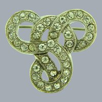 Small Celtic Knot/ Lover's knot Scatter Pin with crystal rhinestones