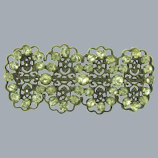 Vintage early large Brooch with crystal paste stones