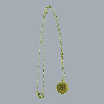 Marked gold filled petite chain with tiny Locket Necklace