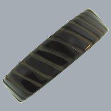 Vintage carved chocolate brown Bakelite bangle Bracelet