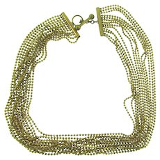 Vintage 13 strand gold tone beaded Necklace