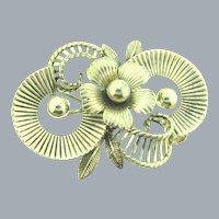 Signed Van Dell sterling silver floral Brooch