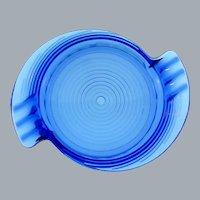 Art Deco cobalt blue glass Ashtray
