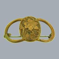 Vintage early domed floral Brooch