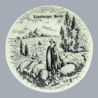 Vintage Bavaria small souvenir plate of Luneburger Heide Germany