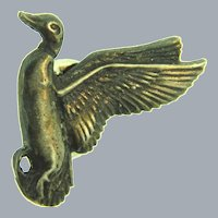 Vintage sterling silver figural duck lapel/tie tack Pin