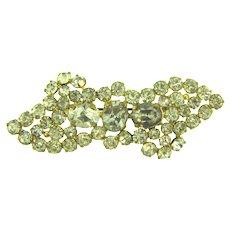 Marked Czech gold tone crystal rhinestone Brooch