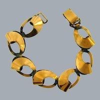 Vintage copper link modernistic mid century Bracelet