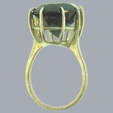 Vintage blue spinel stone Ring set in marked 925 sterling silver frame