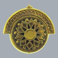Unusual Art Deco gold tone Brooch
