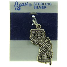 Signed Beau Sterling Silver souvenir New Jersey  Charm