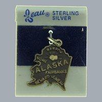 Signed Beau sterling silver souvenir Alaska Charm
