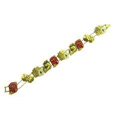 Vintage Los Vegas style slide charm Bracelet