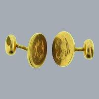 Vintage monogrammed CRC gold filled Cufflinks