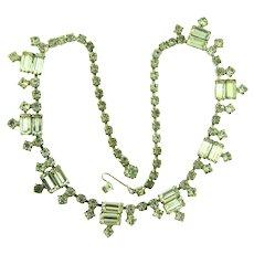 Vintage mid Century crystal rhinestone choker Necklace